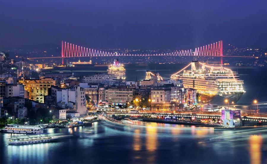 istanbul gece manzara